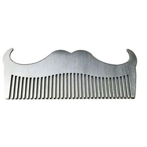 Stainless Steel Beard Comb Anti-Static Mustache Brush Barber Shop Styling Tool