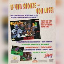 Super Nintendo SNES CLAY FIGHTER CLAYFIGHTER video game magazine print ad page