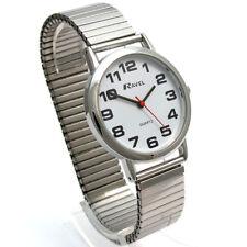 Ravel Men's Super-Clear Quartz Watch with Expanding Bracelet sil #05 R0208.02.1s