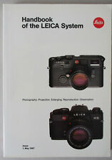 Leica Leitz Handbook of the Leica System, 5/87.