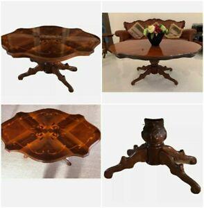 Mahogany inlaid Italian Rococo style French coffee Table