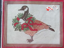Janlynn #59-1 CHRISTMAS GOOSE Counted Cross Stitch Kit New