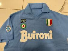 1 maglia MARADONA NAPOLI BUITONI 10 1987/88 tessuto originale acrilico vintage