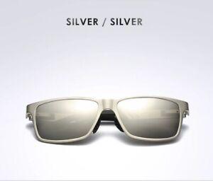 Polarized Fishing Sunglasses Carbon fiber Magnesium frame mirrored UVA UVB SILSI