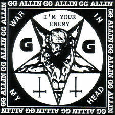 War in My Head by G.G. Allin (CD, Aug-1993, Aware One) GG