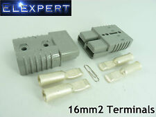 ANDERSON PLUG 175 AMP_BATTERY CONNECTOR_JUMP START_SLAVE ASSIST_X2_GREY_16MM2