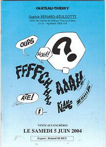 Catalogue Vente BD du 5 juin 2004 à CHATEAU-THIERRY