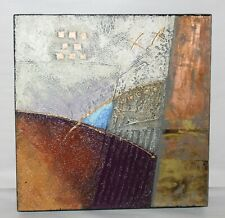 JOY BROE Original Mixed Media Painting ABSTRACT III Framed LOOK GALLERY