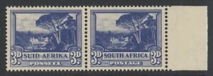 South Africa, UHB 48Bv1 (SG 117a var), MLH, Line from Left 3d variety (R. 4/6)