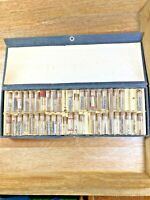 Glass Vials With Assorted Watch Parts - Screws, Gears, Balances, etc... (K5039)