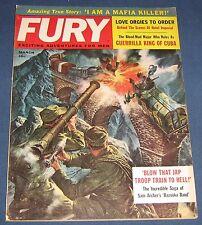 Fury March 1961 Men's Adventure Magazine