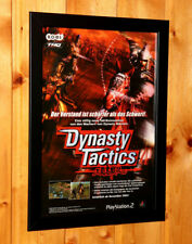 2002 Dynasty Tactics Rare Small Poster / Vintage Ad Page Framed Playstation 2 PS