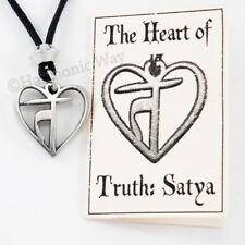 Yoga Necklace HEART of TRUTH Pendant SATYA Yamas Sanskrit Truth Jewelry