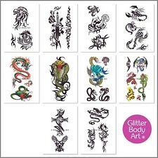 Boys Temporary Tattoos - Sticker Tattoos - Stick on Tattoos - Party Favour Pack