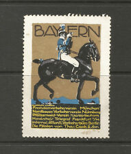 Germany BAVARIA tourism poster stamp/label