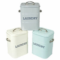 Laundry Powder Storage Tin Washing Tablets Capsules Container Holder Utility Box