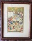 Framed PRINT of14th C PERSIAN Miniature Painting Islamic Art MANUSCRIPT