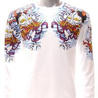 ls10 Japanese Irezumi Tattoo Long Sleeve T-shirt  Devil Hannya Mask God Yakuza