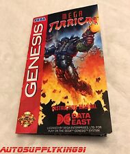 MEGA TURRICAN Custom Art Manual Instruction Booklet Only For Sega Genesis