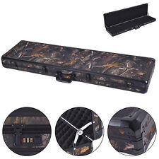 "New 49"" Long Aluminum Locking Rifle Gun Case Lock Shotgun Storage Box Carry Camo"