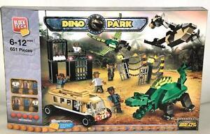 BLOCK TECH DINO PARK DINO PEN BREACH 651 PIECES BUILDING BLOCK BRICKS SET NEW