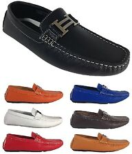 Men Brixton New Leather Driving Casual Shoes Moccasins Slip On Loafers Tobago-4
