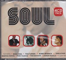 SOUL - VARIOUS ARTISTS on 4 CD'S -  NEW -