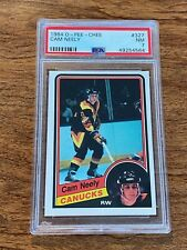 1984-85 O-PEE-CHEE CAM NEELY #327 PSA 7 NM RC ROOKIE CARD 1984 OPC