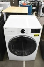 """Lg Dlgx3901W 27"""" White Front Load Natural Gas Dryer #112228"""
