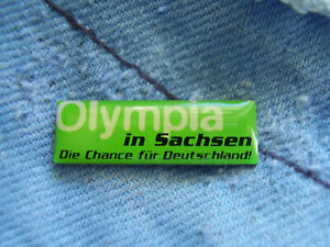 Pin Leipzig Olympia Bewerbung Sachsen Candidature Pin for Leipzig 2020 Germany