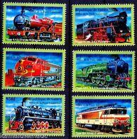 Guinee MNH 6v, Belgica 2001, Railways, Engines, Train