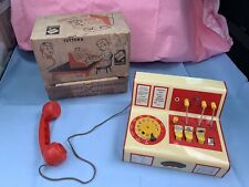 VINTAGE CODEG TOYTOWN BOXED TIN PLATE TELEPHONE SWITCHBOARD