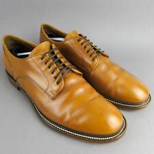 Mens DUNHILL DERBY SHOES Size 9 / 43.5 BROWN / TAN LEATHER SMART FORMAL SHOES