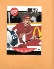 HOCKEY CARDS-90/91 PRO SET #604 SERGEI FEDOROV ROOKIE CARD