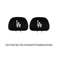 New Team ProMark MLB Los Angeles Dodgers Head Rest Covers For Car Truck Suv Van