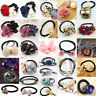 Women Flower Pearl Ponytail Holder Head Band Hair Accessories Ropes  Elastic