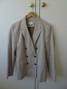 NWOT Witchery Checked Double Breasted Blazer. Size 16.