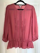 Joie Silk Salmon blouse large - Pristine Condition