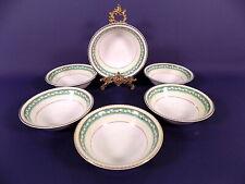 More details for portland pottery cobridge dessert bowls x 6