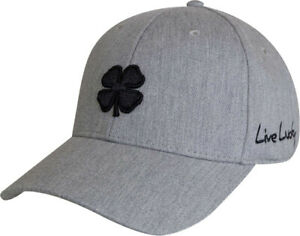 NEW Black Clover Classic Luck Grey/Black Adjustable Golf Hat/Cap
