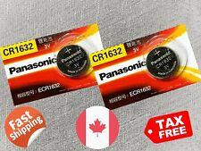 2 pcs Panasonic CR1632, BR1632, ECR1632, 3V, cell Lithium Battery Exp. 2023