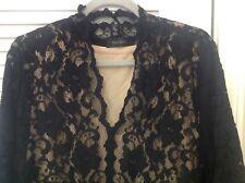 Karen Kane Plus Size Black Lace V-neck Top With Liner -- 2x NWOT