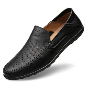 2021 New Men's Casual Driving Boat Leather Shoes Moccasin Slip On Loafers Uk
