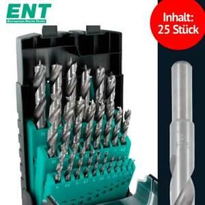 ENT 09225 HSS-G Holzbohrer Set 25-tlg. 1-13 mm 0,5mm Schritte Original