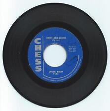 ROCK & ROLL 45 CHUCK BERRY SWEET LITTLE SIXTEEN ON CHESS  STRONG VG  ORIGINAL