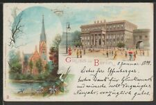 Gruss Aus Berlin Germany early printed postcard 1899