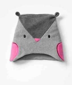 Baby Gap NWT Gray Fleece Owl Winter Hat XS/S S/M M/L $15