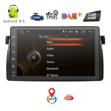"Android 9.0 Head Unit 9"" Car GPS Navigation Stereo Blueototh OBD DAB for BMW E46"
