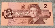 1986- Canadian Two Dollar $2 Banknote