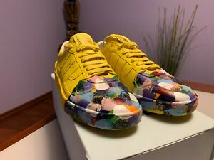 LANVIN x Gallery Department Painted Sneakers in Yellow, US9